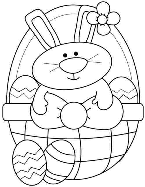 Cesta del conejo de Pascua :: Imágenes y fotos
