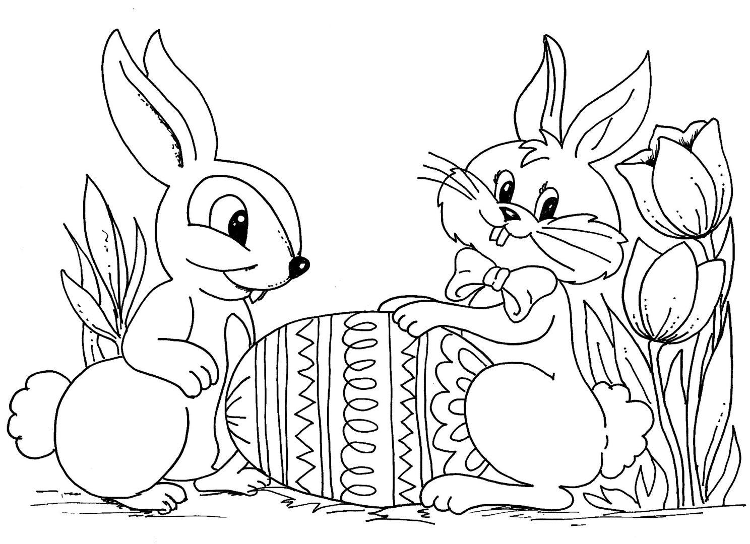 Galería de imágenes: Dibujos de conejos de Pascua